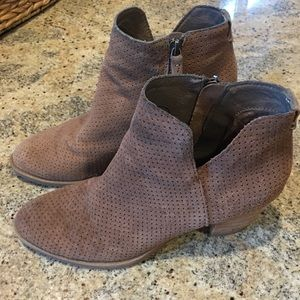 Dolce Vita Perforated Taupe Booties 9